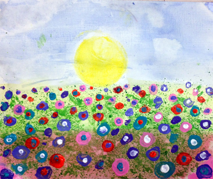 Jamie Coukos Wiley field of flowers